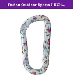 Fusion Outdoor Sports I-KClip - Floral. I-KCLIP - Floral not for human support. This is a modified D-shaped, novelty carabiner in spring floral print.