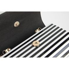 Sofia Black and White Striped Clutch ❤ liked on Polyvore featuring bags, handbags, clutches, white and black handbags, white and black purse, black and white clutches, black and white handbags and striped handbag