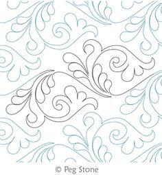 Digital Quilting Design Feather Flourish by Peg Stone.