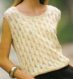 Vintage Knitting Pattern Instructions to Make a Ladies Spring/Summer Jumper