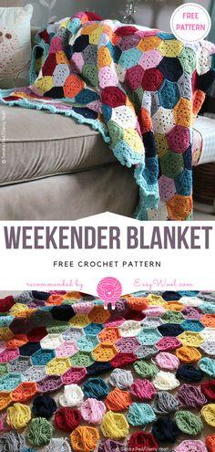 WeekEnder Blanket Free Crochet Pattern on easywool.com