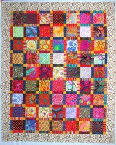 Kaffe Fassett quilt by Wanda Hanson | Exuberant Color 2014