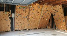 Bouldering wall, for exercise breaks. Cutting, sewing, packaging, etc. are all very fatiguing, on the mind and body.