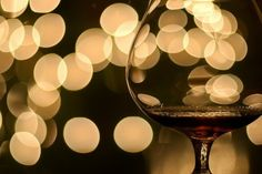 red wine and sparkling lights.