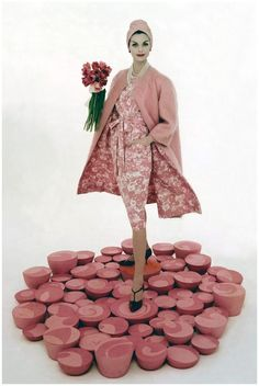 Model Anne St. Marie, 1959. Hmm matching lining... could go one way or another :))