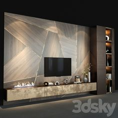 Tv Cabinet Wall Design, Lcd Wall Design, Feature Wall Design, Tv Cabinet Design Modern, Modern Tv Room, Modern Tv Wall Units, Wall Unit Designs, Living Room Tv Unit Designs, Ensemble Mural Tv