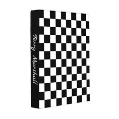 Checker Race Flag Design Mini Binder Custom Office Retirement #office #retirement