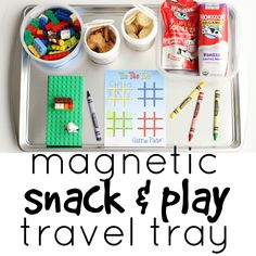 Magnetic Snack & Play Travel Tray