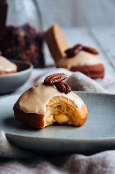 Hint of Vanilla: Brioche Doughnuts with Brown Butter Pastry Cream and Maple and Vanilla Bean Glaze