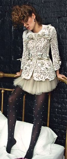 Dolce & Gabbana OMG Bows lace tulle and dots, where do I pin it? Beautifuls.com Members VIP Fashion Club 40-80% Off Luxury Fashion Brands