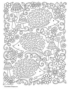Colorful Inspirations - Everything About Kindergarten Cute Coloring Pages, Printable Coloring Pages, Coloring Sheets, Coloring Books, Free Adult Coloring, Coloring Pages For Kids, Bunt, Drawings, Pattern