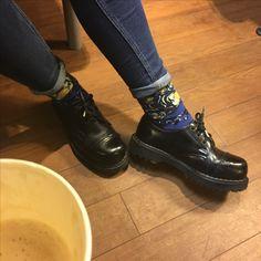 #socks #Vincent #Van #Gogh #art #Classic #starry #night #Coffee #Tumblr #jeans #martens #glany #boots #black #Brown #chaussettes #café #skarpetki #gwieździsta #noc #kawa