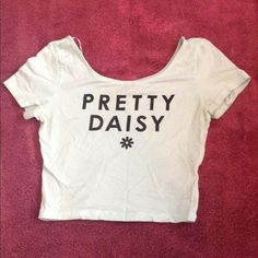 A light blue pretty daisy crop top Worn a couple of times. No stains or damages. Need gone H&M Tops