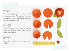 Great post on using basic punch shapes to create fun, pretty flowers. Easy Paper Flowers, Paper Roses, Diy Flowers, Fabric Flowers, Pretty Flowers, Paper Punch Art, Punch Art Cards, Craft Punches, Scrapbook Paper Crafts