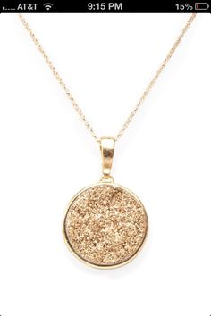Take a look at this rose gold mother of pearl pendant necklace by i could totally make this out of old jewerly aloadofball Choice Image