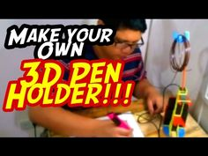 Make your own Pen Dock 3d Pen, Make Your Own, How To Make, Create Yourself, Channel, Youtube, Fun, Crafts, Manualidades