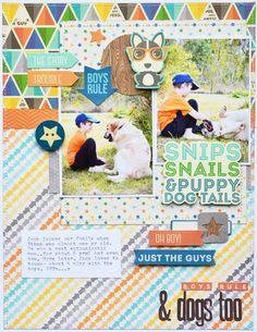 July 9, 2014 I like the cutout Snips title Use for J & Ma Cheri Jillibean Soup_Leanne Allinson_& Dogs Too_Layout