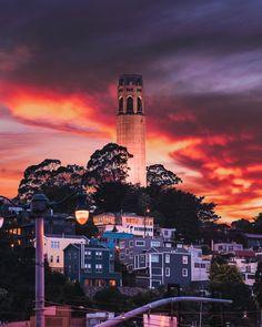 The Coit Tower by bing.travel by CaliforniaFeelings.com california cali LA CA SF SanDiego