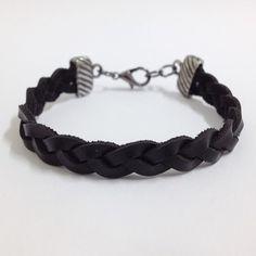 Kit 4 pulseiras masculinas couro âncora rosa dos ventos pedra obsidiana na internet