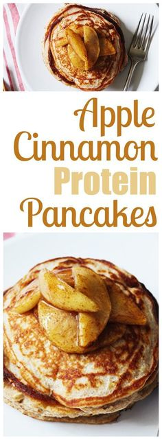 Apple Cinnamon Protein Pancakes - 21 Day Fix friendly. A super easy pancake recipe that is full of delicious fruit and cinnamon. Apple pancakes that make for a ridiculously healthy breakfast. Fixate Recipes, Bariatric Recipes, Cooking Recipes, Bariatric Eating, 21 Day Fix Breakfast, Breakfast Recipes, Breakfast Ideas, Protein Powder Recipes, Protein Powder Pancakes