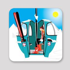 Ski Vintage, Vintage Travel Posters, Vintage Signs, Superflat, Ski Posters, Winter Illustration, Nordic Design, Picture Wall, Skiing