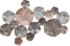 Metallic Hand Painted Etched Metal Wall Décor