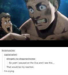 Attack on Titan<<< I'd be so scared that I'd die of fright before I even got near the titan's mouth Otaku, Hetalia, Kuroko, Cosplay Meme, Aot Memes, Tamako Love Story, Attack On Titan Funny, Levi X Eren, Levi Ackerman