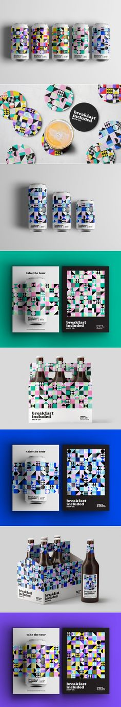 Breakfast Included Brew Co. pale ale package design and branding by Shanti Sparrow | Fivestar Branding Agency – Design and Branding Agency & Curated Inspiration Gallery  #beer #ale #branding #packaging #brand #packagedesign #design #geometric #behance #pinterest #dribbble #fivestarbranding