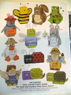 Patio Paver Pal patterns  48 pattern set or 4 by LadybugLB on Etsy, $40.00