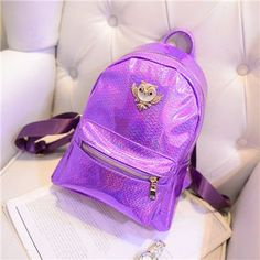 Hologram Laser Owl Backpack Women Backpacks For Teenage Girls School Bags Diamond Lattice Geometric Mochila Feminina Bagpack