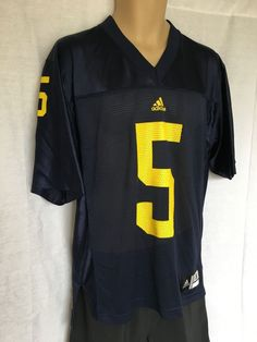 adidas official NCAA Michigan Wolverines Football Jersey #5 Navy Size S  | eBay