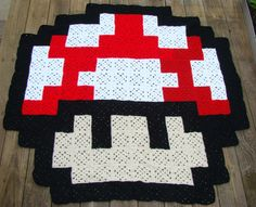 Mario toad blanket made for my nephew