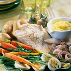 Grand aioli d& - Food Fish Recipes, Great Recipes, Healthy Recipes, Regional, Country Cooking, Mediterranean Recipes, Fish And Seafood, No Cook Meals, Food Photography