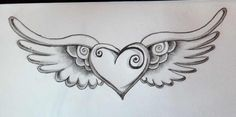 heart with wings tattoos - Google Search