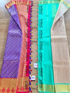 # If you are within Bangalore: Choose a design from www.krishnetassels.com/tassels & visit us in person. Price ranges from ₹ 500 ~ 6000. Whatsapp or call on 9916253832 incase of any queries. # If you are from outside Bangalore: Choose an 'easy to stitch' tassel lace design from www.krishnetassels.com/lace The chosen lace is custom-crafted to suit your saree colours & delivered to your doorstep. Price ranges from ₹ 500 ~ 5000. Whatsapp or call on 9916253832 incase of any queries. Saree Tassels Designs, Saree Kuchu Designs, Signature Design, Lace Design, Saree Wedding, Ranges, Silk Sarees, Suit, Colours