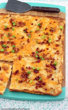 Loaded Potato Crunch--I crumbled a few slices of crispy bacon on top along with snipped green onions and dollops of sour cream on the side for serving.--so delicious!!