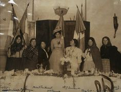 Sylvia Pankhurst at a Suffragette breakfast meeting