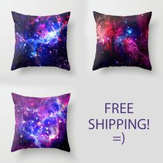 Galaxy Pillows - FREE SHIPPING!--- I need these for our bed!!