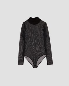 Image 8 of CONTRASTING TULLE BODYSUIT from Zara