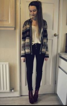 Black high-wasted pants