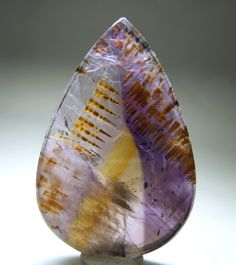 Goethite in Color Zoned Amethyst