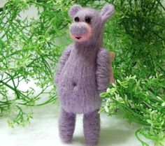 Boo Bear is a Needle Felted  And a Soft by WildWoodHollow on Etsy, $32.00