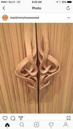 intricate carved door pulls