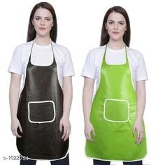 Aprons Classic Aprons ( Pack Of 2)  *Material * Apron - PVC  *Size (L x W)* Apron - 18  in x 28 in  *Description* It Has 2 Piece Of Kitchen Apron  *Pattern* Solid  *Sizes Available* Free Size *   Catalog Rating: ★4.2 (220)  Catalog Name: Hiba Lovely Aprons Combo Vol 1 CatalogID_123448 C129-SC1633 Code: 142-1022754-