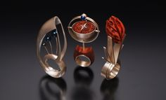 Erin Cornell Designs featuring thesis rings titled Growth, Purpose and Love, respectively
