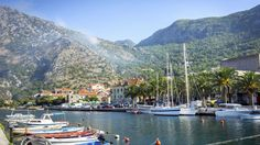 Sailing in Kotor, Montenegro