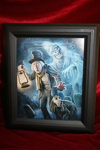Disney Haunted Mansion Caretaker Cryptkeeper Framed Print Halloween Decoration
