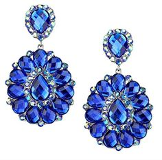 Sapphire Blue Ab Rhinestone Big Flower Clip-on Silver Earrings Pageant Drag Queen Wedding Bridal Evening Sophia Collection http://www.amazon.com/dp/B012OZYZ5O/ref=cm_sw_r_pi_dp_kx4Rwb1F6Y21V