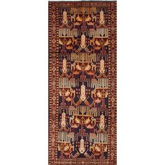 ECARPETGALLERY Ardabil Hand-Knotted Brown/Beige Area Rug