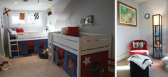 Shared boys room with loft beds.